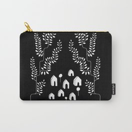 Line Vine Village Line Art Illustration in Black Carry-All Pouch