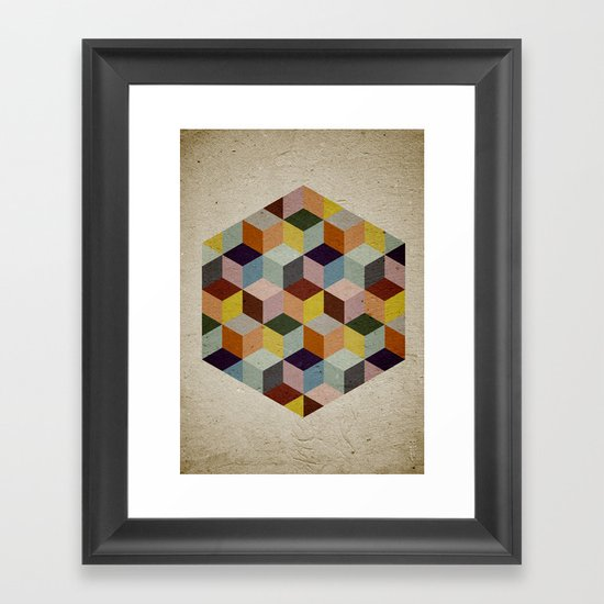 Dimension Framed Art Print