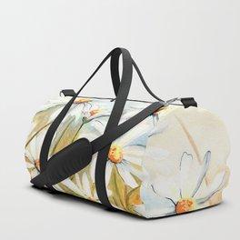 Daisies Watercolor Duffle Bag