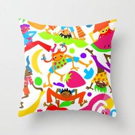 Fruit Leapfrog Throw Pillow