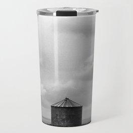 Prairie Landscape Black and White Travel Mug