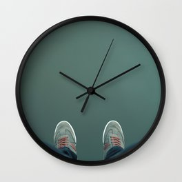 The green abyss Wall Clock
