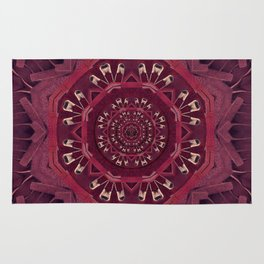 Leather and love in a safe environment pop art Rug