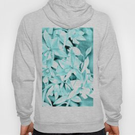 Cascading orchids - Teal Hoody