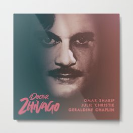 Doctor Zhivago, minimalist movie poster, David Lean film,Omar Sharif, Boris Pasternak, book cover Metal Print