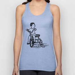 Little Tricycle Unisex Tank Top