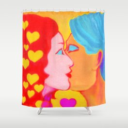 Forms of Love FemaleMale Shower Curtain