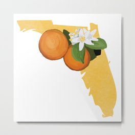 Florida Orange Blossom Metal Print
