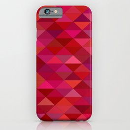maroon dark red triangle mosaic iPhone Case