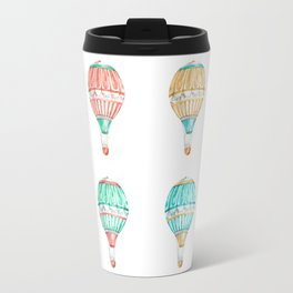 Colorful Hot Air Balloon Travel Mug