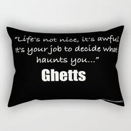 Decide What Haunts You... Rectangular Pillow