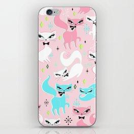 Swanky Kittens on Pink iPhone Skin