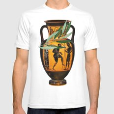 Ancient Greek MEDIUM Mens Fitted Tee White