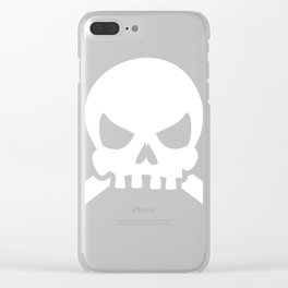 Skull And Crossbones product, Pirate Flag print, Pirate design Clear iPhone Case