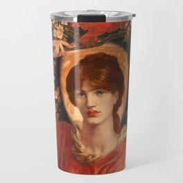A Vision of Fiammetta, Dante Gabriel Rossetti Travel Mug