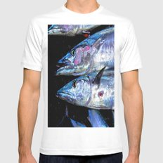 Catch of the Day: Wahoo White Mens Fitted Tee MEDIUM