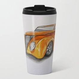 Orange Hot Rod Travel Mug