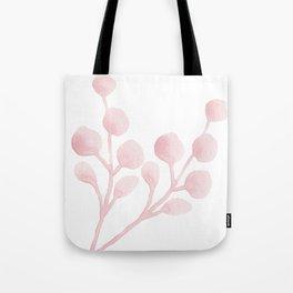 Blush Watercolor Leaves Tote Bag