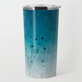 Blue Floral ~ silhouettes Travel Mug