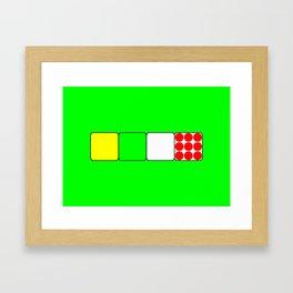Tour de France Jerseys 2 Green Framed Art Print