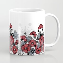 Red flowers on a white background . Coffee Mug