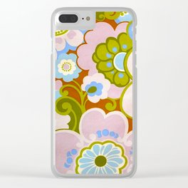 SEVENTIES FLOWERS Clear iPhone Case