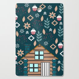 Winter cottage Cutting Board