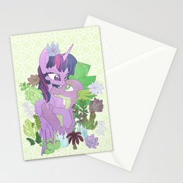 Twilight, Spike and Succulents Stationery Cards