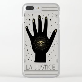 La Justice or The Justice Tarot Clear iPhone Case