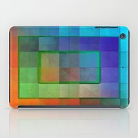 aperture iPad Cases featuring Aperture #2 Fractal Pleat Texture Colorful Design by CAP Artwork & Design