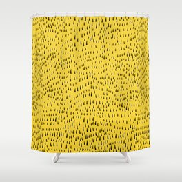 Trees in Yellow Shower Curtain
