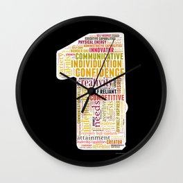 Life Path 1 (black background) Wall Clock