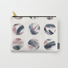 Pink and Navy Polka Dots Carry-All Pouch