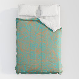 Peach and Teal Floral Comforters