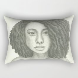 Corinne Bailey Rae Pencil Portrait Rectangular Pillow