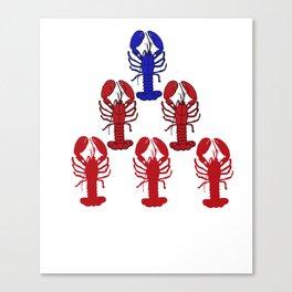 Alpha Blue Lobster Hierarchy Jordan Peterson Meme Canvas Print