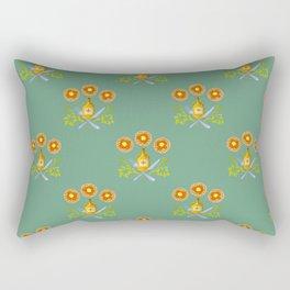Waffle and Syrup (Mint Mocha) Rectangular Pillow