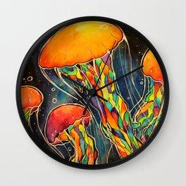 Rainbow Jellies Wall Clock