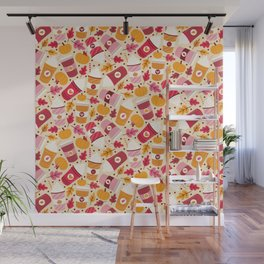 Pumpkin Spice Love Wall Mural