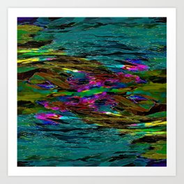 Evening Pond Rhapsody Art Print
