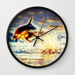 Dolphin Joy Wall Clock