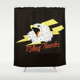 Screaming Eagle (Rolling Thunder) Shower Curtain