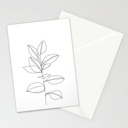 One line plant illustration - Dany Stationery Cards