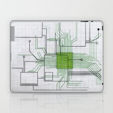 Circuit board green Laptop & iPad Skin