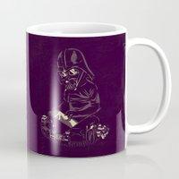 dark side Mugs featuring Dark Side by yortsiraulo