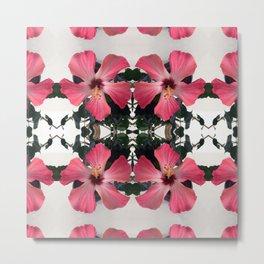 Hibiscus Photographic Pattern #1 Metal Print