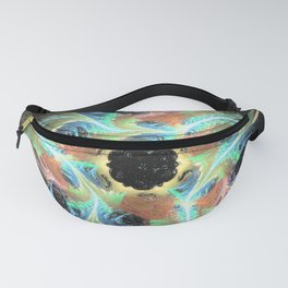 Peacock Colors Fanny Pack
