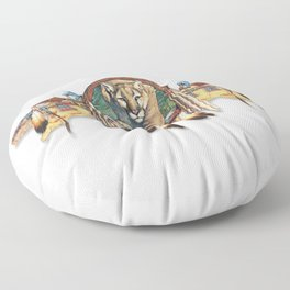 Mountain Lion Floor Pillow
