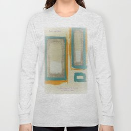 Soft And Bold Rothko Inspired - Modern Art - Teal Blue Orange Beige Long Sleeve T-shirt