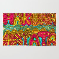 hakuna Area & Throw Rugs featuring Hakuna Color by Diego Tirigall